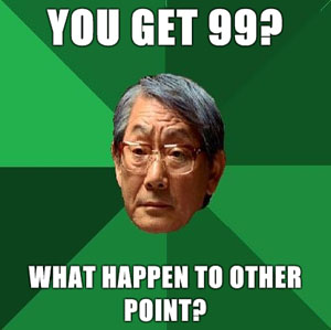 Disapproving Asian Father