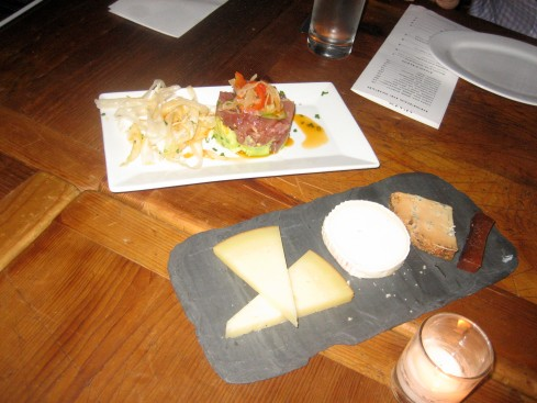 Tuna Tartare and Cheese