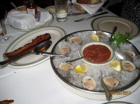 Canadian Bacon and Clams