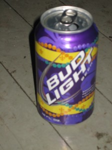 Mardi Gras Bud Light!