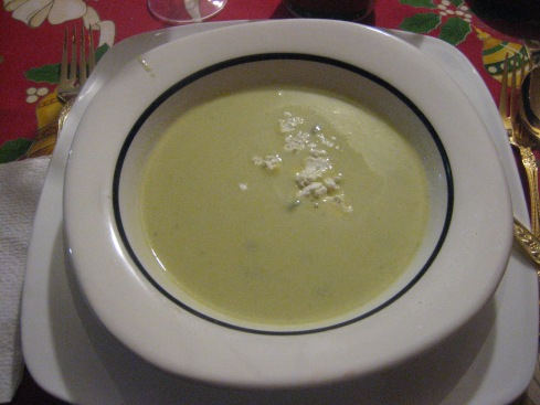 Green pepper soup